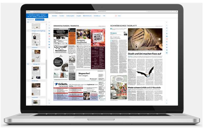 web:digiPaper - die digitale Ausgabe Ihrer Tageszeitung. Mit Vorlese- und Archivfunktion.